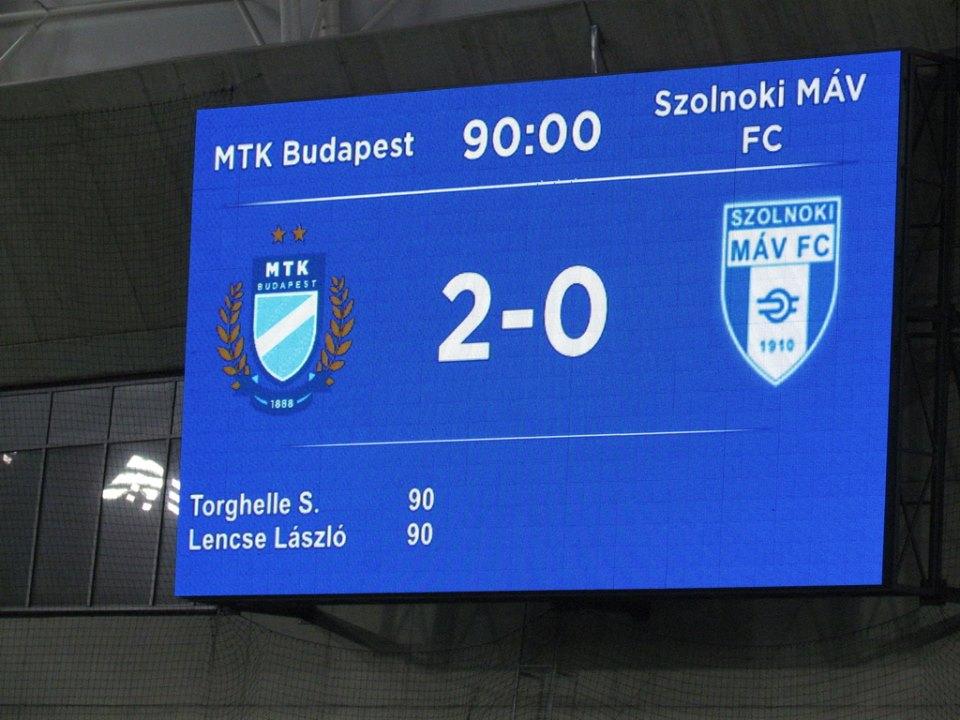 http://kbsc.hu/Az MTK kiizzadta, a Kisvárda otthon bukott