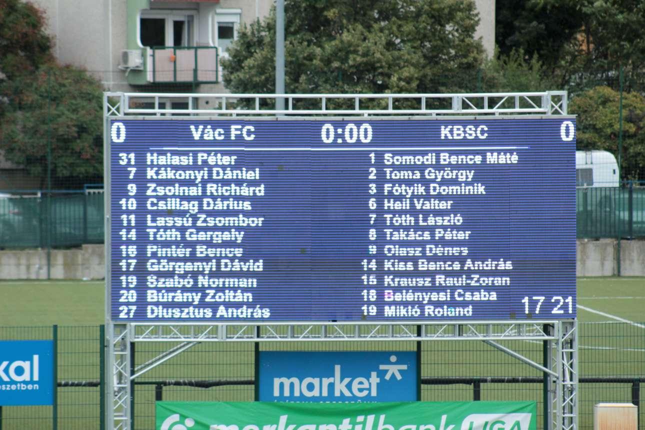 2018/19, 5. forduló - Vác FC-Kazincbarcika 0-2 (0-1)