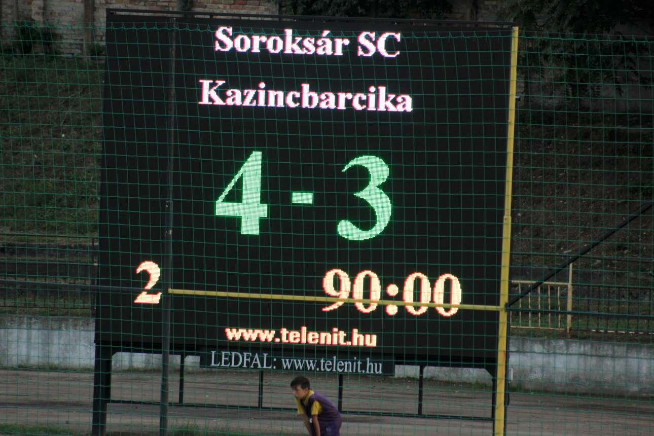 2018/19, 5. forduló - Soroksár SC-Kazincbarcika 4-3 (3-2)